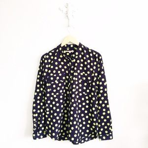 Gap Navy & Lime Popover Shirt