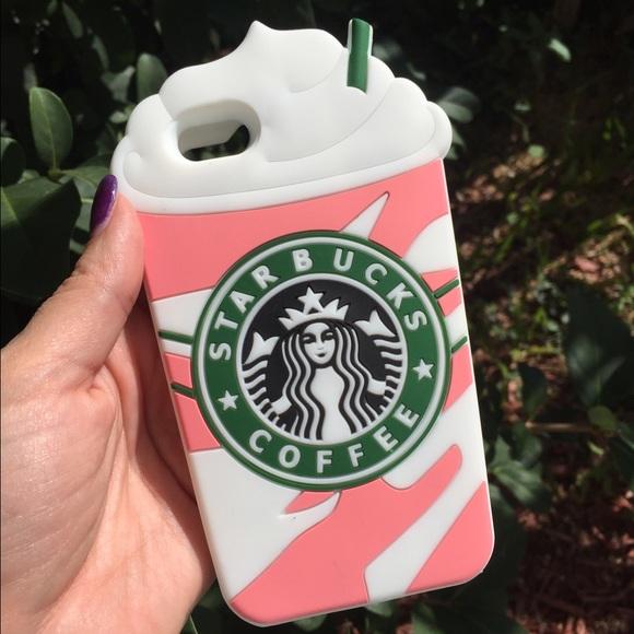 accessories starbucks pink frappuccino iphone case 6 6s 7 poshmark