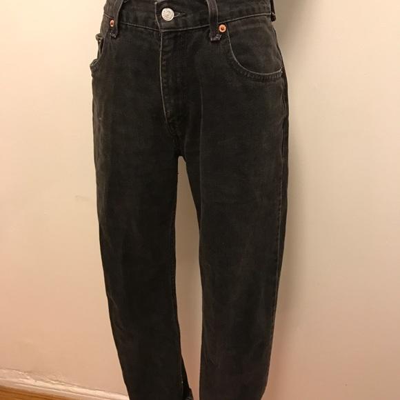 Vintage Jeans - Vintage Black high-waisted Levis 501 Denim jeans