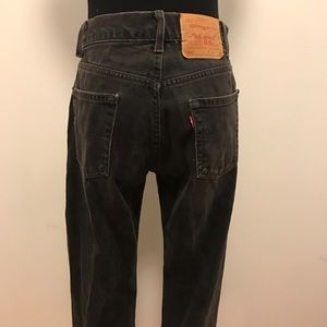 Vintage Jeans - Vintage Black high-waisted Levis 501 Denim jeans