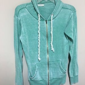Ocean Drive Tops - Sea-foam green dyed hoodie