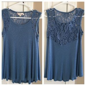 Hippie Rose Tops - 🎉HP 🎉NWOT Lace Detail Tank Top