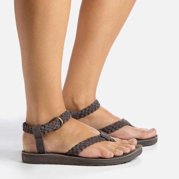 0ef8319cdf33 NIB Teva Original Suede Braid thong sandal