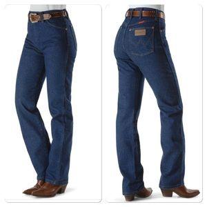 Wrangler Denim - ✔️Vintage✔️Wrangler Dark wash worn jeans
