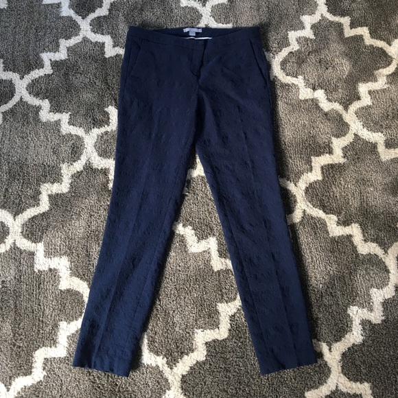 Saint Tropez West Pants - Beautiful embossed ankle length fitted navy pants