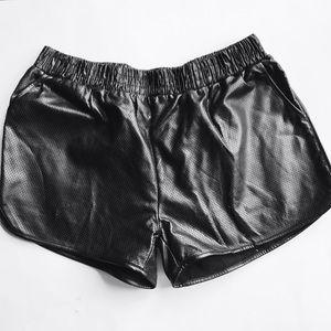 Maude Pants - Faux Leather Shorts