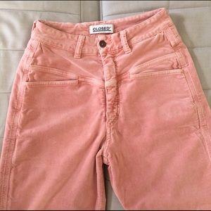 Closed Pants - CLOSED Velvet High Waist Pants