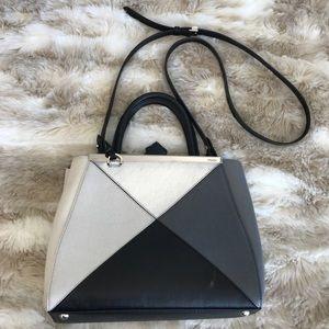 Fendi Handbags - Fendi 2Jour Petite Satchel Leather Handbag