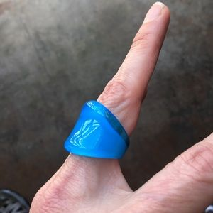 Jewelry - 🆕 Hand blown blue glass ring