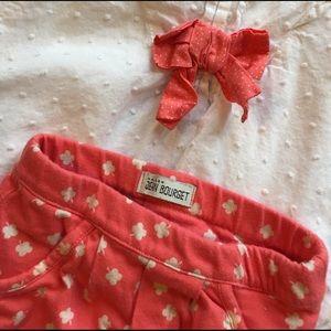 Jean Bourget Other - Shamrock Baby Girls 2 Piece Top & Orange Pants Set