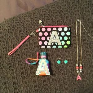 """Justice Other - Justice Letter """"A"""" accessory lot"""