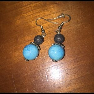 ASOS Jewelry - Turquoise & black beaded dangly earrings 💕💕