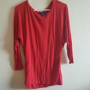 30b6a047aecd ralph lauren sport Tops - Red dressy shirt Ralph Lauren sport