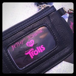 NWT Betsey Johnson Trolls Coin Purse/Wallet
