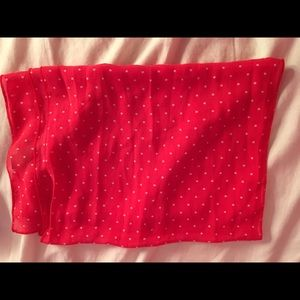 Chico's Accessories - Chicos sheer coral & white polka dot scarf