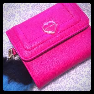 NWT Betsey Johnson Trolls xox French Wallet