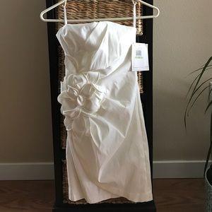 Jessica McClintock Dresses & Skirts - BNWT Jessica McClintock white strapless dress 4