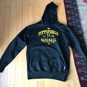 Adidas Tops - Pittsburg Baseball Hood Sweatshirt New