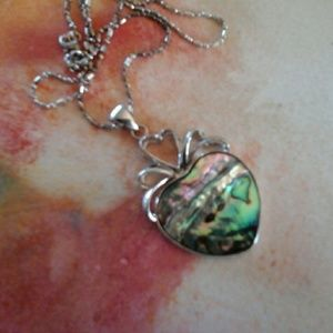 3x1 Jewelry - !Abalone  Necklace  Sterling Silver