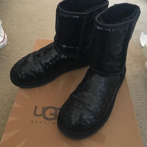 91284e4eab3 UGG Shoes | Short Classic Black Sparkle | Poshmark