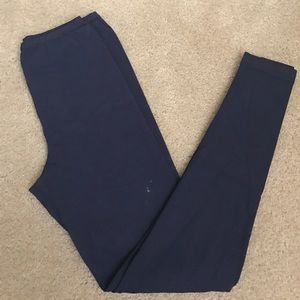 Alaia Pants - Alaïa full length navy leggings