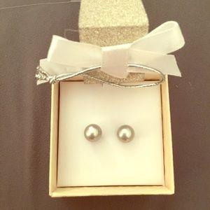 Honora Jewelry - NIB Honora Classic Silver pearl earrings 8mm