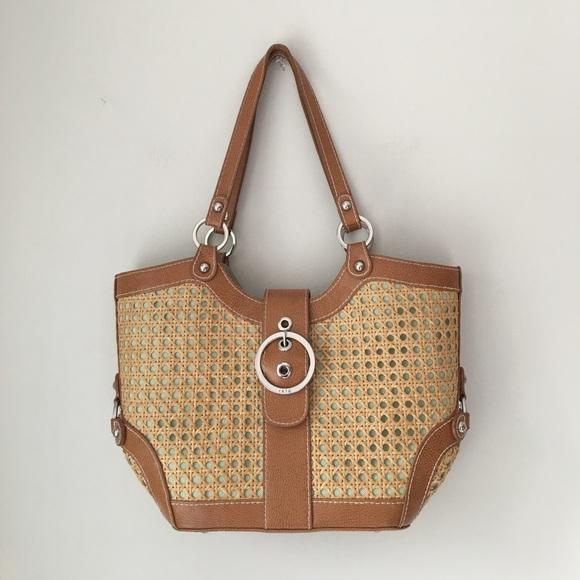 6967785fb4 Rafe New York Rattan Handbag
