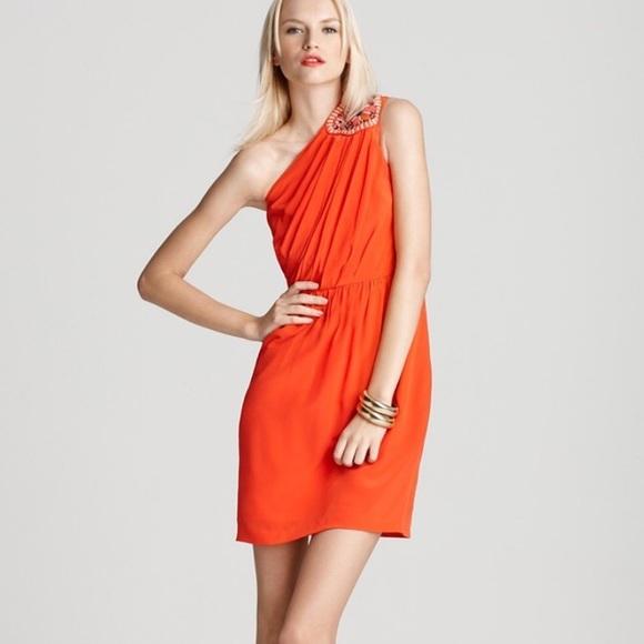 88cde9df147e One Shoulder Orange Dress – Fashion dresses