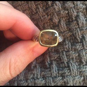 David Yurman Jewelry - DAVID YURMAN SMOKY QUARTZ ALBION NOBLESSE RING