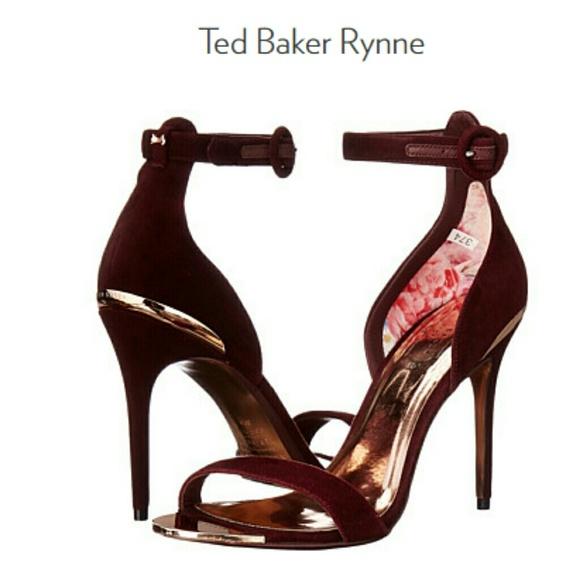 Ted Baker Rynne Burgundy Heels