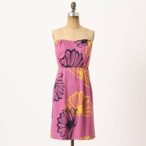 Anthropologie Dresses & Skirts - Sariah Agave Burst Floral Mini Strapless Dress