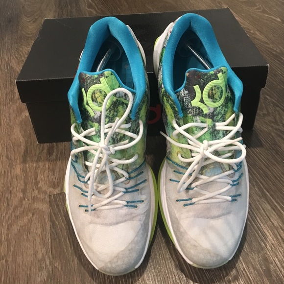 new concept 3ab02 59f99 NIKE KD 8 N7 KEVIN DURANT Neon Glow In The Dark. M 58b9e9348f0fc48d48023006