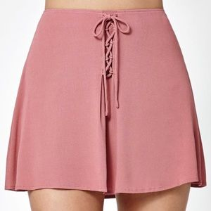 Kendall & Kylie Dresses & Skirts - Kendall & Kyle Lace Up Woven Skirt NWOT