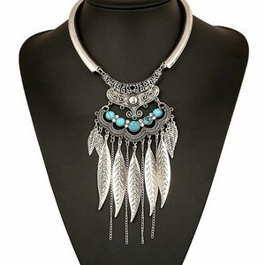 C.C. Boutique Jewelry - RE-STOCK! 5-star rated Boho Feather Drop Necklace
