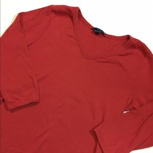 Polo by Ralph Lauren Tops - Ralph Lauren polo vneck 3/4 tee