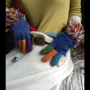 Amano Rainbow Gypsy Magic Bolivian Wool Gloves