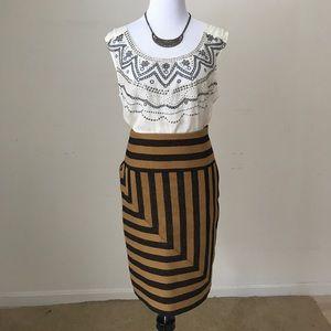 Anthropologie Eva Franco Angler Pencil Skirt