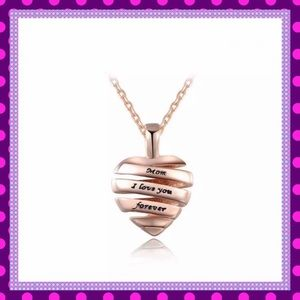 """Boutique Jewelry - 🥀Rose Gold """"Mom I Love You Forever"""" Necklace🥀"""