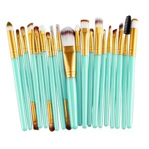 Makeup Forever Other - ⚜ Mint and Gold Brush Set 20 Pcs ⚜