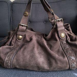 Gerard Darel Handbags - Gerard Darel 24h Nubuck Leather Handbag