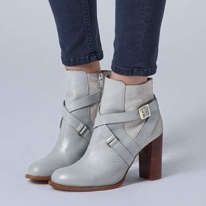 Topshop AROMA Leather/Suede Heeled Ankle boots