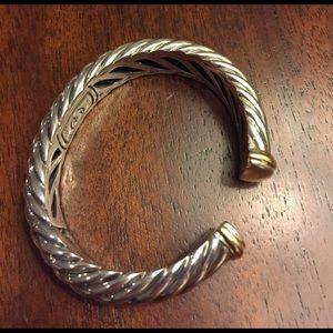 David Yurman Jewelry - David Yurman silver with gold tips bracelet