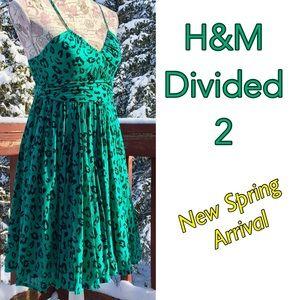 Divided Dresses & Skirts - ⤵️H&M Divided Green leopard print dress 4
