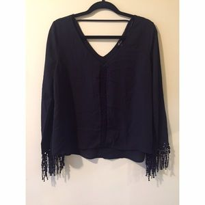 Tops - V cut blouse
