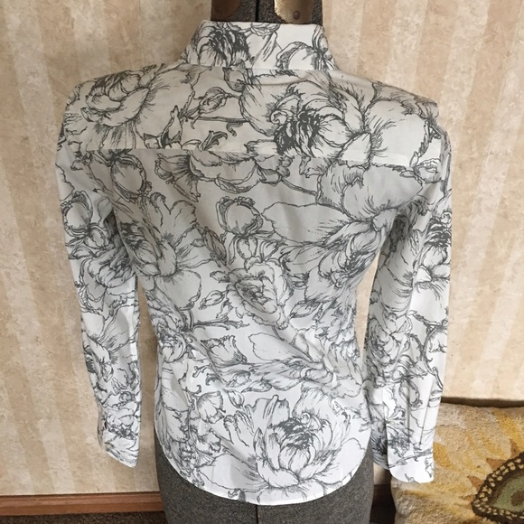 Talbots Tops - Talbots gray and cream blouse
