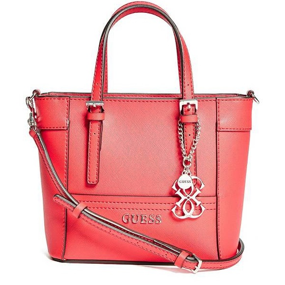50189ccd9e70 Guess Handbags - Guess Delaney Mini Tote Red