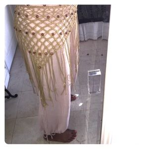 Accessories - Vintage beaded crochet skirt/belt/shawl