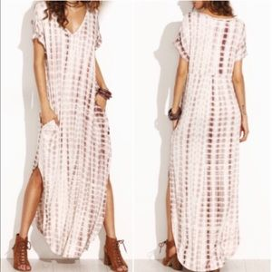 Tie Dye Split Curve Hem Maxi Dress. Price firm.