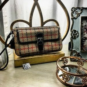 Coach Handbags - Coach Tweed Plaid Wristlet
