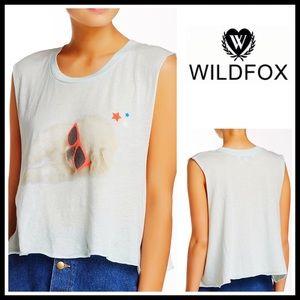 Wildfox Tops - WILDFOX Crop Top Sleepy Pup Tank Tee